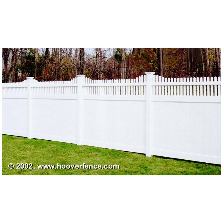 Bufftech Chesterfield Vinyl Fence Sections - Huntington Accent