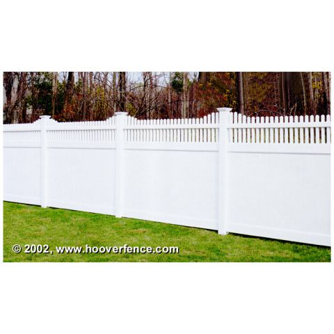 Bufftech Chesterfield Vinyl Fence Panels - Huntington Accent