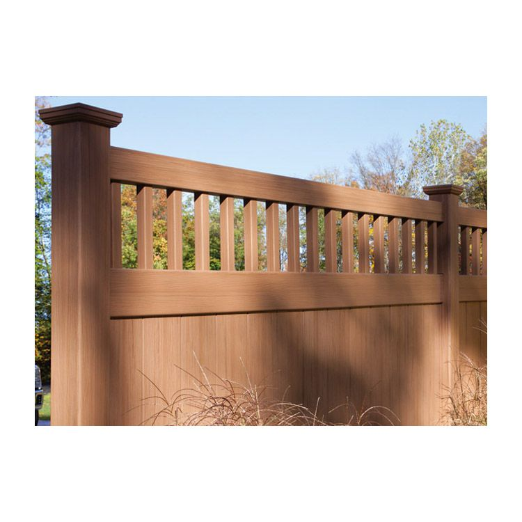 Bufftech Chesterfield CertaGrain Vinyl Fence Sections - Victorian Accent