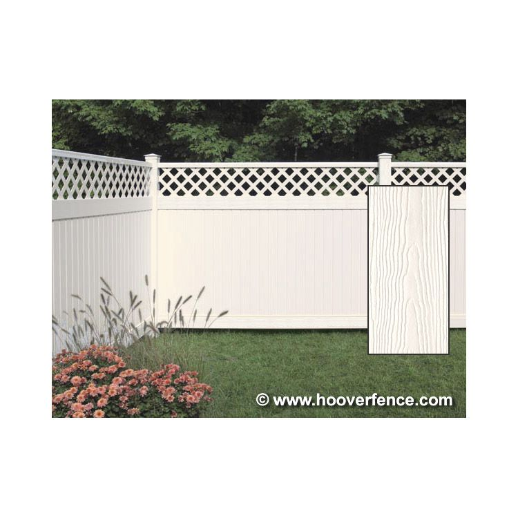 Bufftech Chesterfield CertaGrain Fence Sections - Lattice Accent