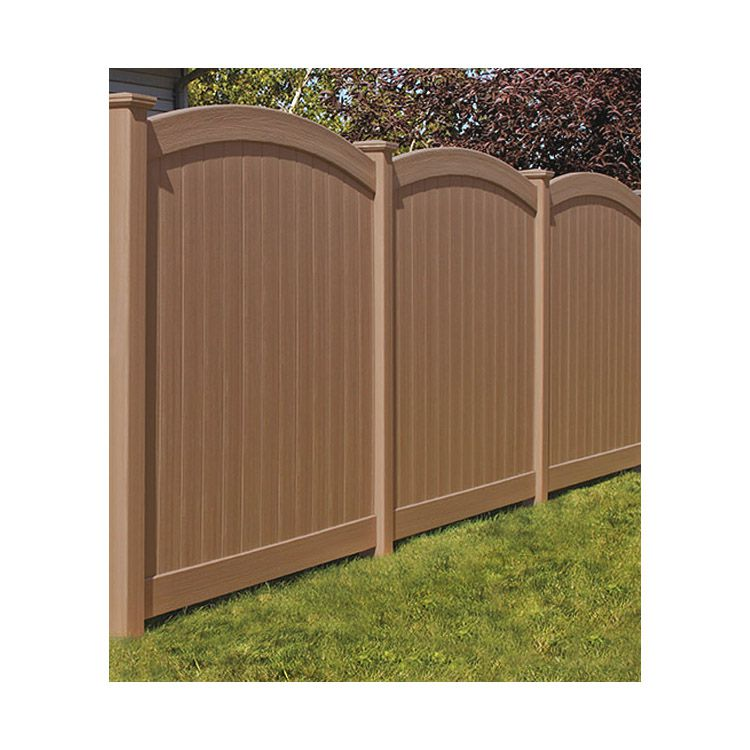 Bufftech Chesterfield CertaGrain Vinyl Fence Sections - Convex