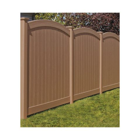 Bufftech Chesterfield CertaGrain Vinyl Fence Panels - Convex