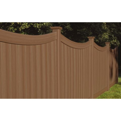 Bufftech Chesterfield CertaGrain Vinyl Fence Panels - Concave