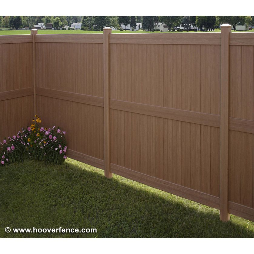 Bufftech Galveston CertaGrain Vinyl Fence Sections
