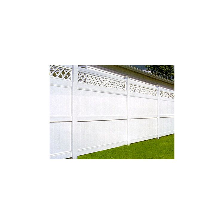Bufftech Galveston Vinyl Fence Sections - Lattice Accent
