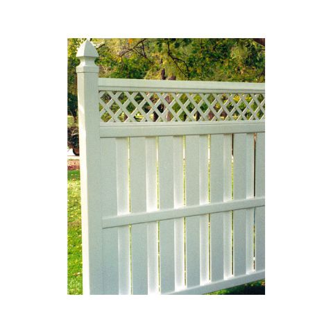 Bufftech Columbia Vinyl Fence Sections - Lattice Accent