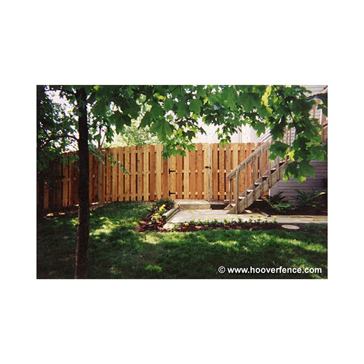 Shadowbox Wood Fence Panels, Straight Top - Cedar