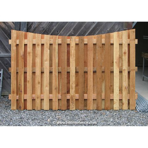 Shadowbox Wood Fence Panels, Concave Top - Cedar