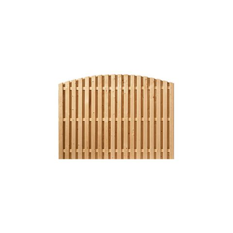 Shadowbox Wood Fence Panels, Convex Top - Cedar