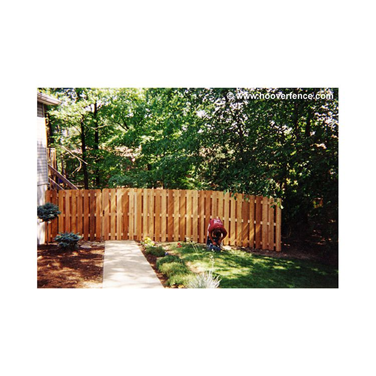 Shadowbox Wood Fence Panels Straight Top Cedar Hoover