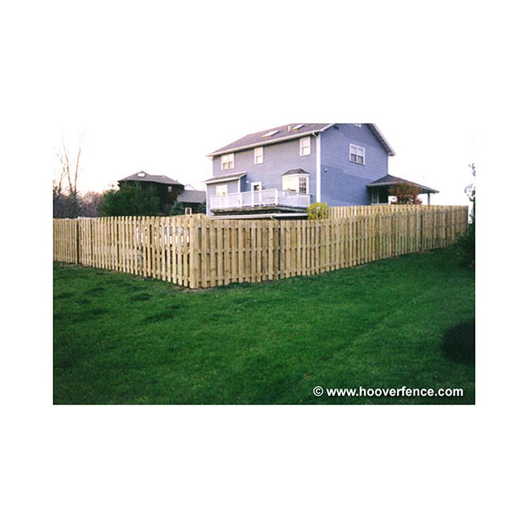 Shadowbox Wood Fence Panels, Straight Top - Treated