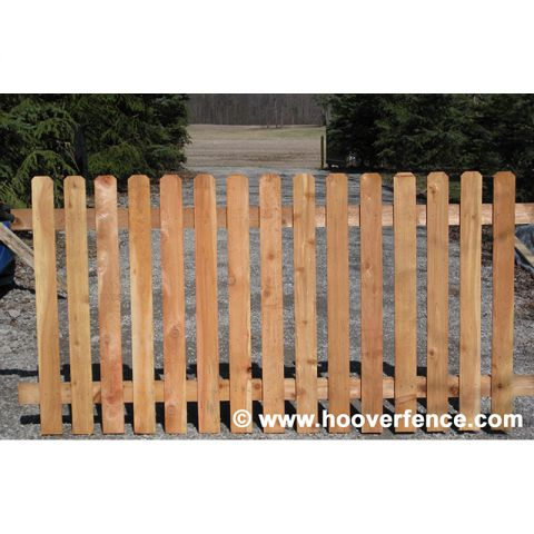 Spaced Dog Ear Wood Fence Panels - Cedar