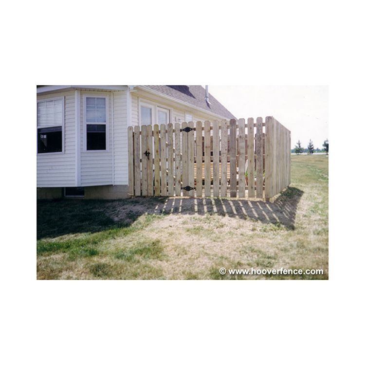 Spaced Dog Ear Wood Fence Panels - Treated