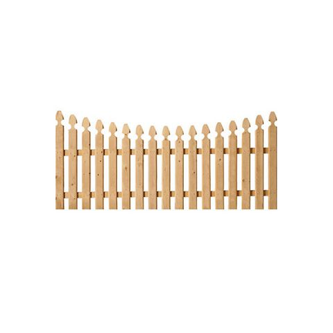Spaced French Gothic Concave Wood Fence Panels - Cedar