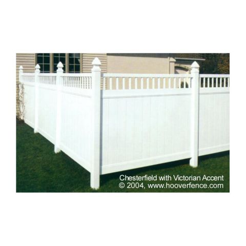Bufftech Chesterfield Vinyl Fence Sections - Victorian Accent
