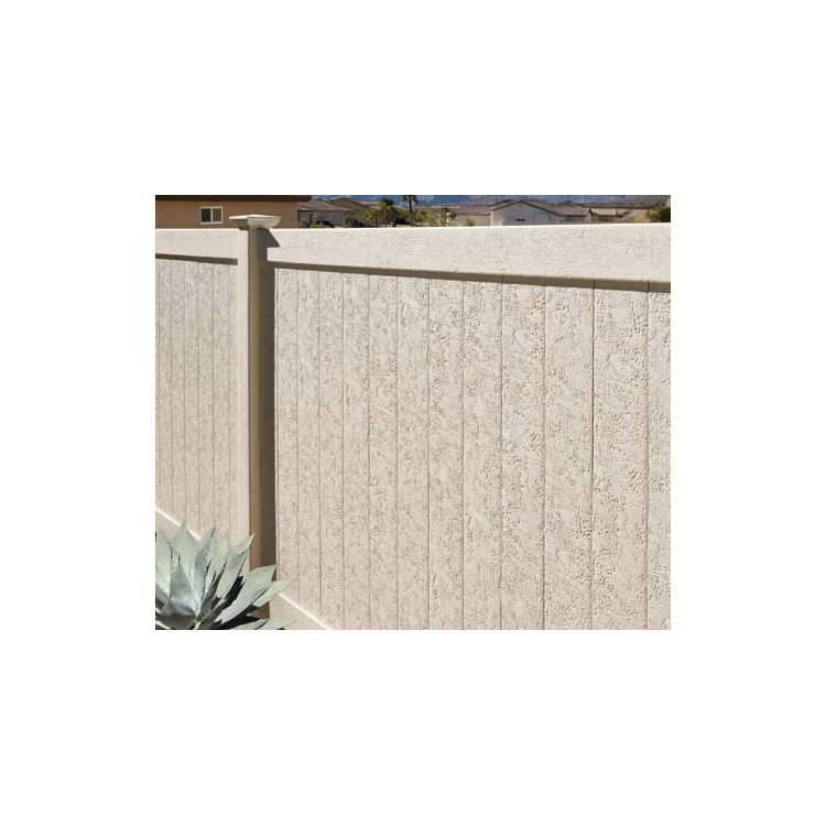 Bufftech Chesterfield CertaStucco Vinyl Fence Sections