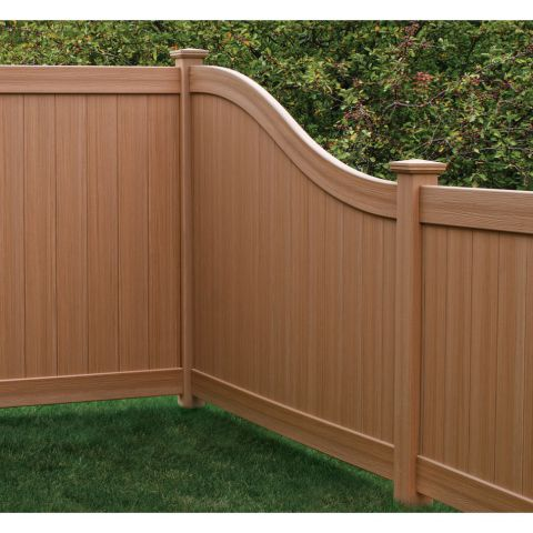 Bufftech Chesterfield CertaGrain Vinyl Fence Sections - S-Curve