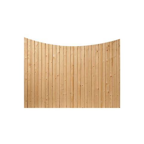 Solid Wood Fence Panels, Concave Top - Cedar