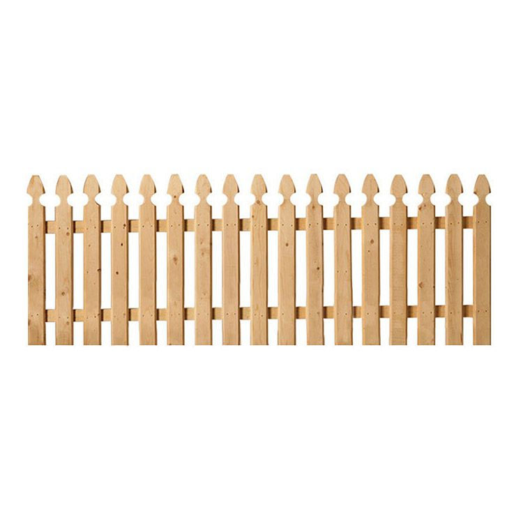 Spaced French Gothic Wood Fence Panels - Straight Top - Spruce