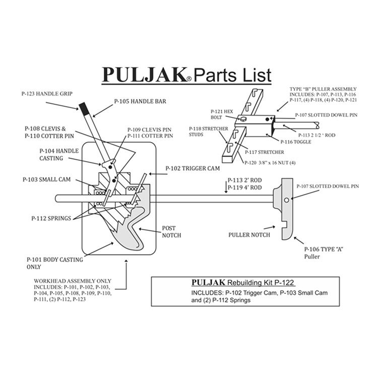 PulJak Pul-Jak Replacement Parts