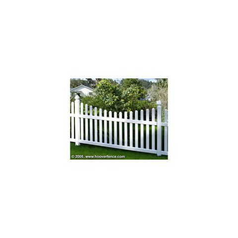 Bufftech Rothbury Vinyl Fence Sections - Concave Top