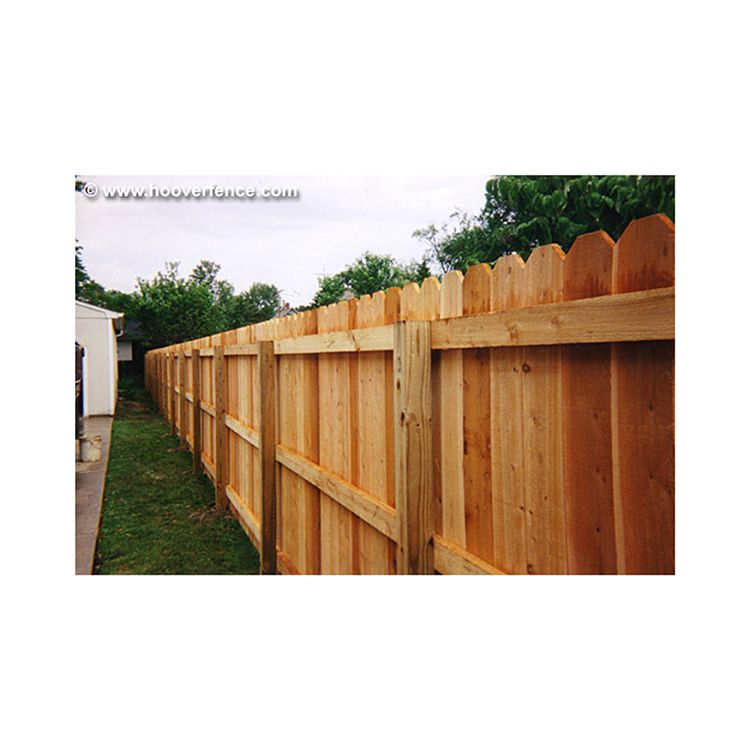 Solid Dog Ear Wood Fence Panels Straight Top Cedar