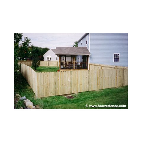 Solid Dog Ear Wood Fence Panels - Straight Top - Treated