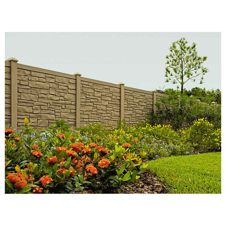 SimTek EcoStone Plus Vinyl Fence Sections