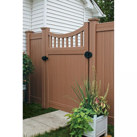 Bufftech Chesterfield CertaGrain Concave with Victorian Accent Vinyl Gates
