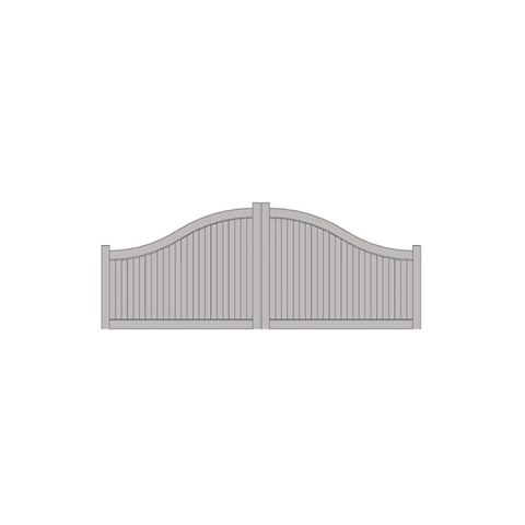 Hoover Fence The Zachary, Arched 4\'-6\' H x 16\' W Vinyl Double Gate ...