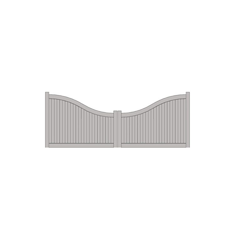 Hoover Fence The Cadence, Arched 4\'-6\' H x 16\' W Vinyl Double Gate ...