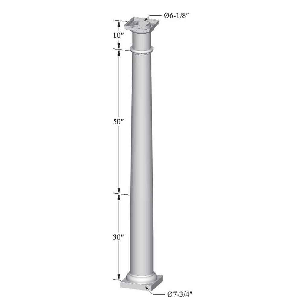 Superior Tapered Pergola Column (Hollow - No Plates)