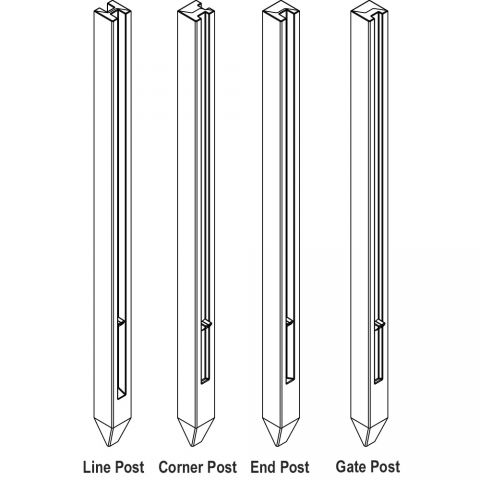 Bufftech Molded Vinyl Posts