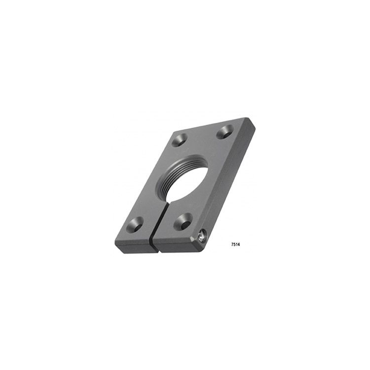 D&D Technologies SureClose - 6026-04 - Post Mounting Bracket + Single Hinge Clamp, Center Mount - Aluminum