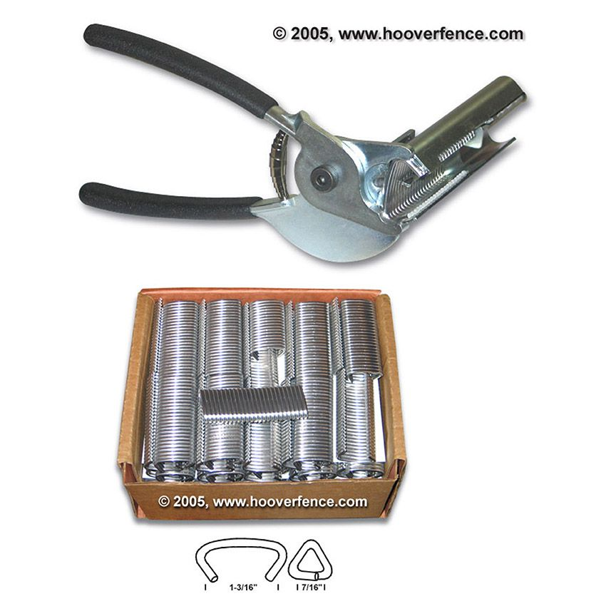 Hog Ring Tool Kit - Includes Hog Ring Tool and Case of 2500 Hog Rings