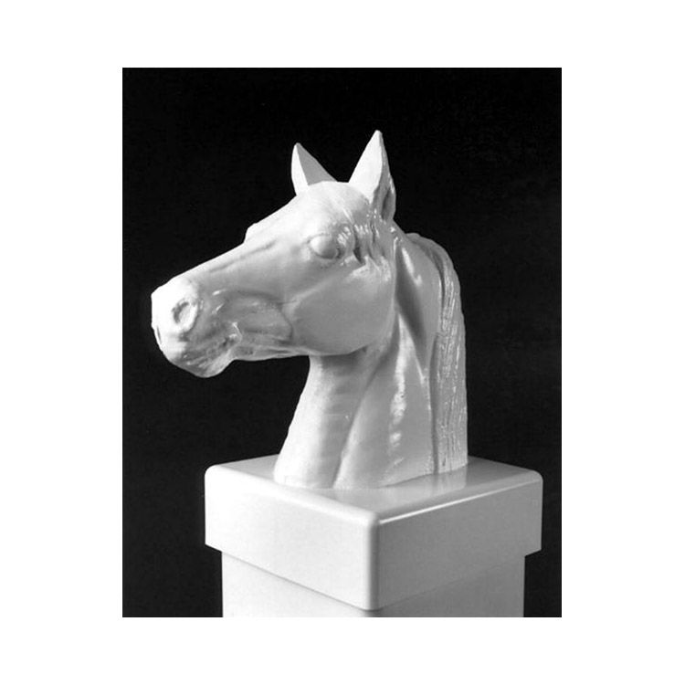 Lmt Stallion Head Post Cap 5x5 White Hoover Fence Co