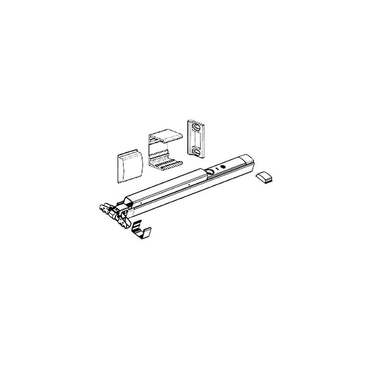 Detex Narrow Stile Door Kit for Value Series V40 Exit Device - Aluminum Finish