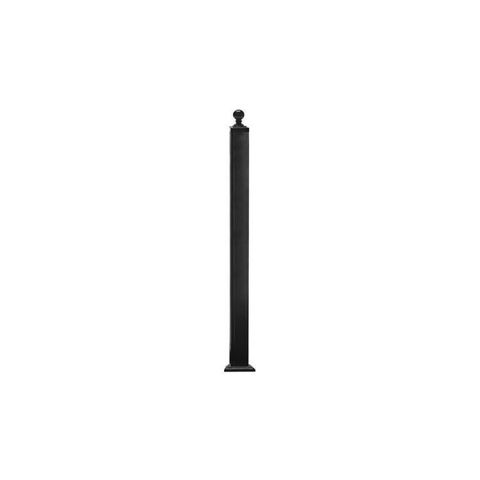 Key-Link Newel Post with Welded Plate - Aluminum