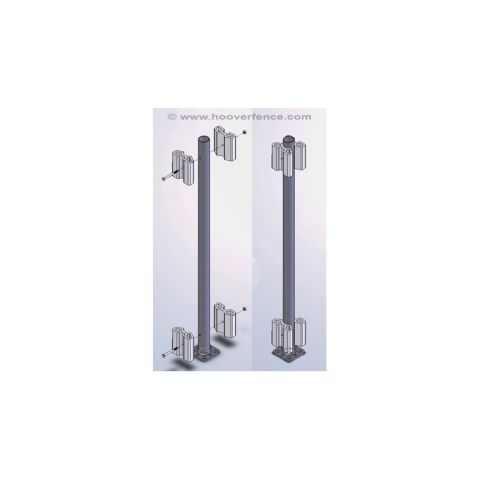 Bufftech Oxford Railing Bracketed Post Support Kits Concrete