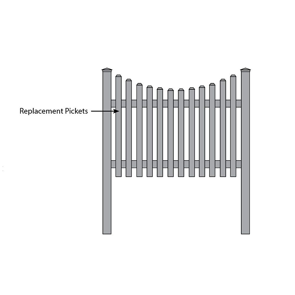 Bufftech Yorkshire Concave Fence - Replacement Pickets