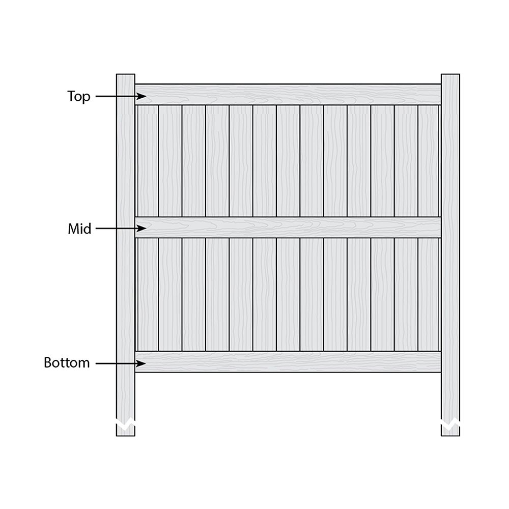Bufftech Galveston CertaGrain Fence - Replacement Rails