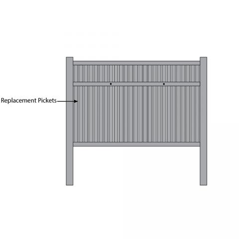 Bufftech Imperial Fence - Replacement Pickets