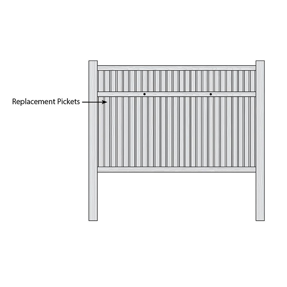 Bufftech Imperial Select Cedar Fence - Replacement Pickets