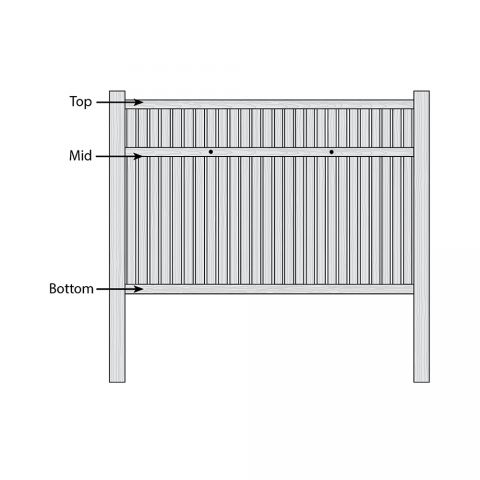 Bufftech Imperial Select Cedar Fence - Replacement Rails