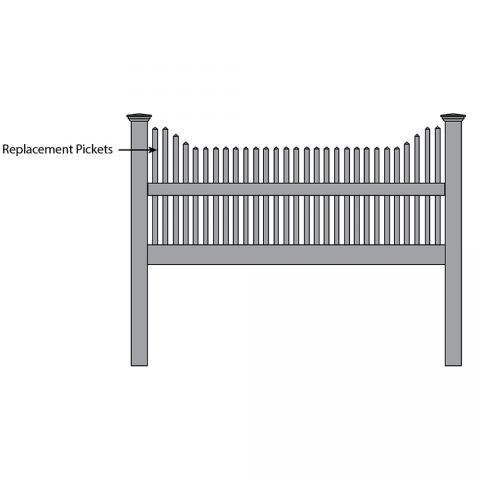 Bufftech Manchester Concave Fence - Replacement Pickets