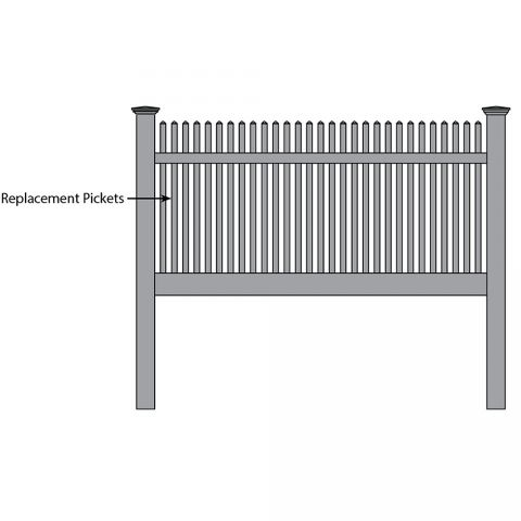 Bufftech Manchester Fence - Replacement Pickets