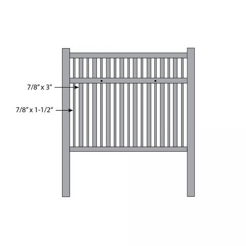Bufftech Monarch Fence - Replacement Pickets