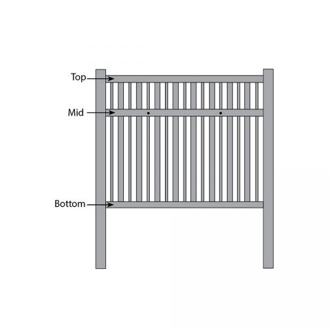 Bufftech Monarch Fence - Replacement Rails
