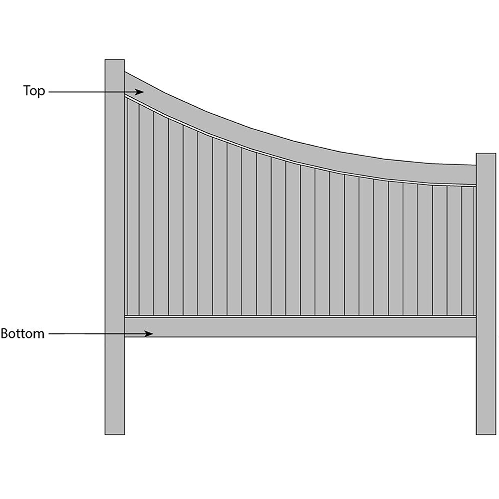 Bufftech New Lexington Swoop Fence - Replacement Rails