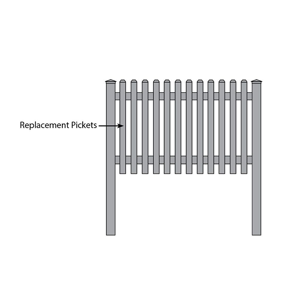 Bufftech Yorkshire Fence - Replacement Pickets